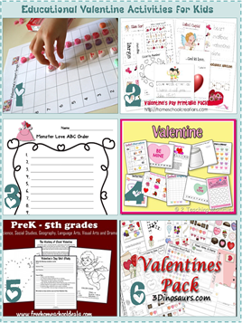Educational Valentine Activities for Kids