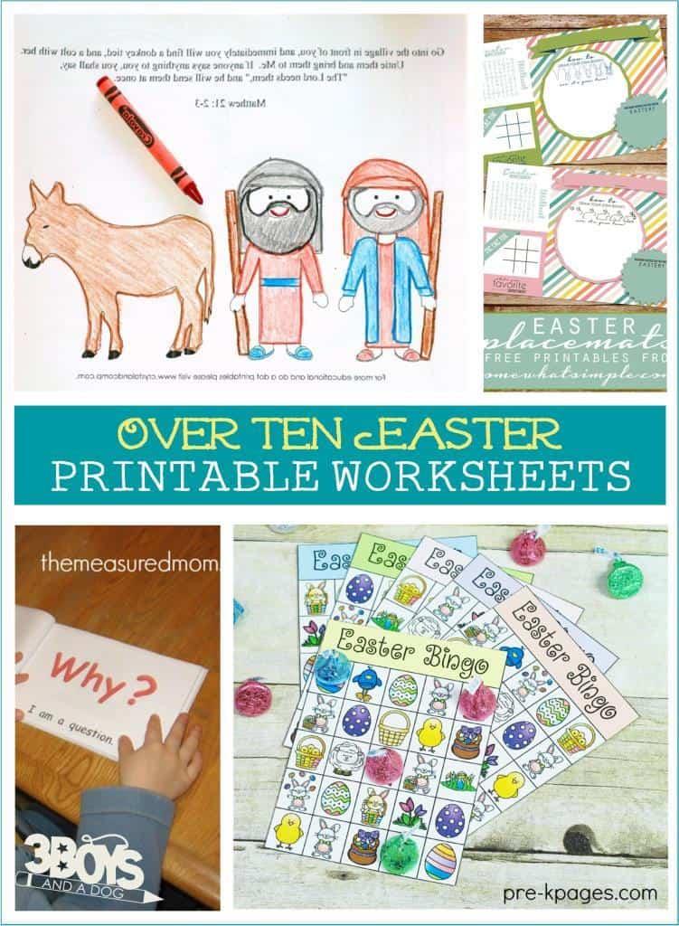 Over 10 Printable Easter Worksheets