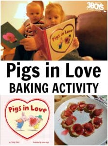 Pigs in Love Baking Activity for Preschoolers