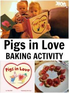 Pigs in Love Baking Activity for Preschoolers