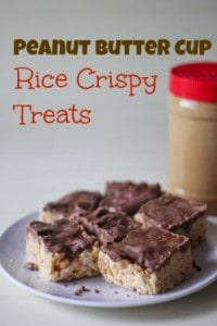 Peanut Butter Cup Rice Crispy Treats