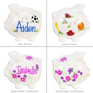 GIVEAWAY: Personalized Jumbo Piggy Bank (Baby Shower Gift Ideas)