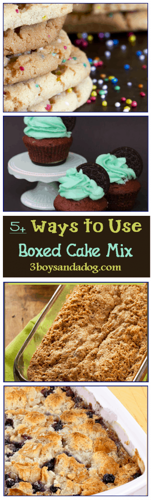 5 Recipes Using Boxed Cake Mix as the Base