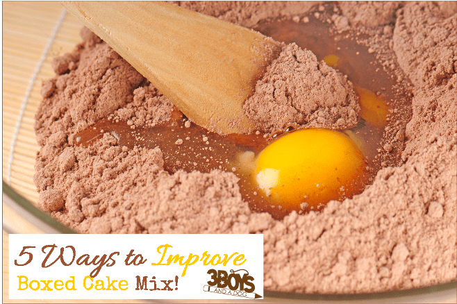 5 Ways to Improve Boxed Cake Mix