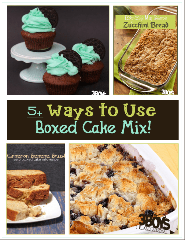 Substitute Butter For Oil In Box Cake Mix