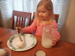Gluing eggs