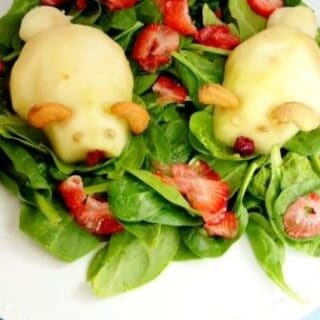 Easter Bunny Pear Spinach Salad