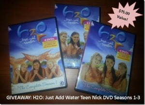 GIVEAWAY: H2O: Just Add Water Teen Nick DVD Seasons 1-3