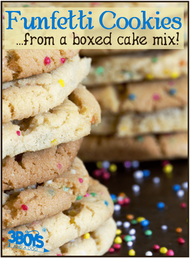 How to Make Funfetti Cookies from a Box of Cake Mix