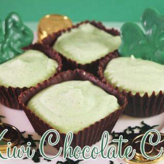 Kiwi Chocolate Cups