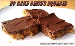 No Bake Reeses Squares
