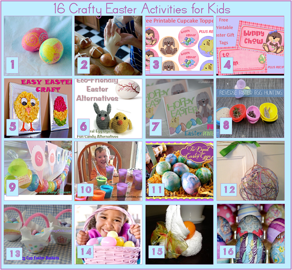 16 Crafty Easter Activities for Kids