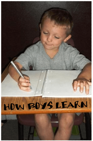 How Boys Learn: The Learning Curve is different for boys than girls - tips to help you succeed in educating your male child!