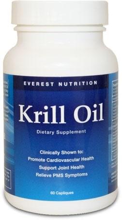 krill oil bottle