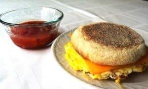 The Easy 3 Minute Breakfast Sandwich