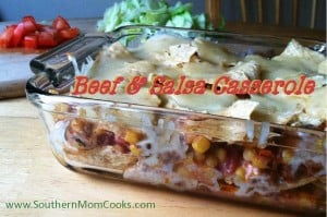 Beef and Salsa Casserole for Cindo de Mayo!