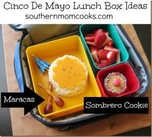 Bento lunch recipe: Cinco de Mayo