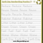 Earth Day Print Handwriting Worksheets