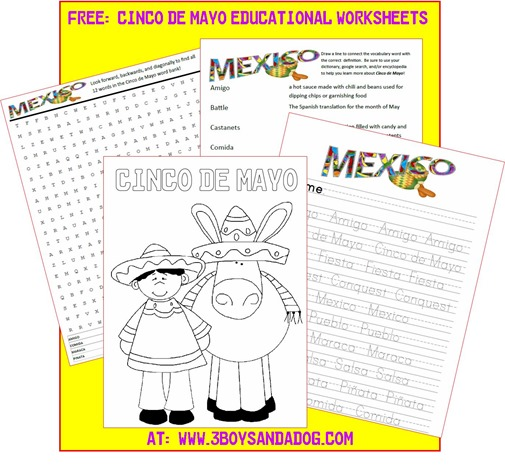 Free Cinco de Mayo Worksheets