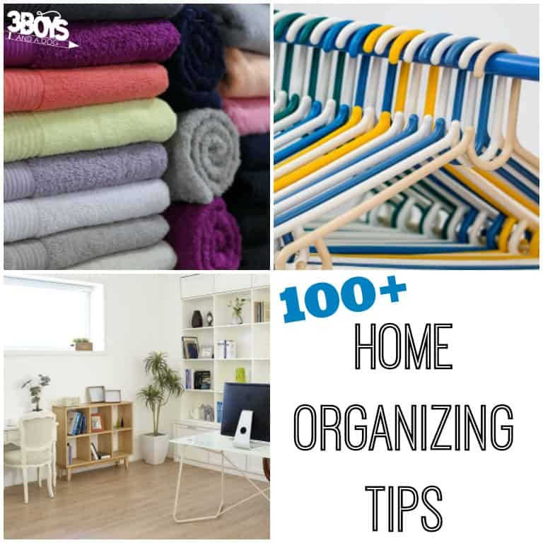 Over 100 Home Organizing Tips