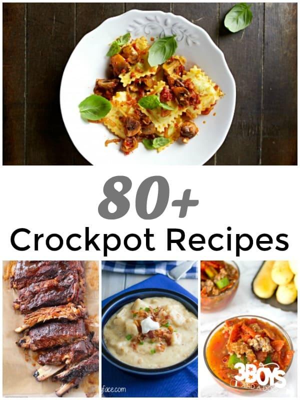 Over 80 Crockpot Recipes @ 3 Boys and a Dog