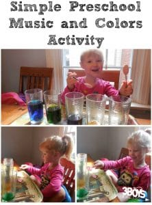 Simple Preschool Music and Colors Activity