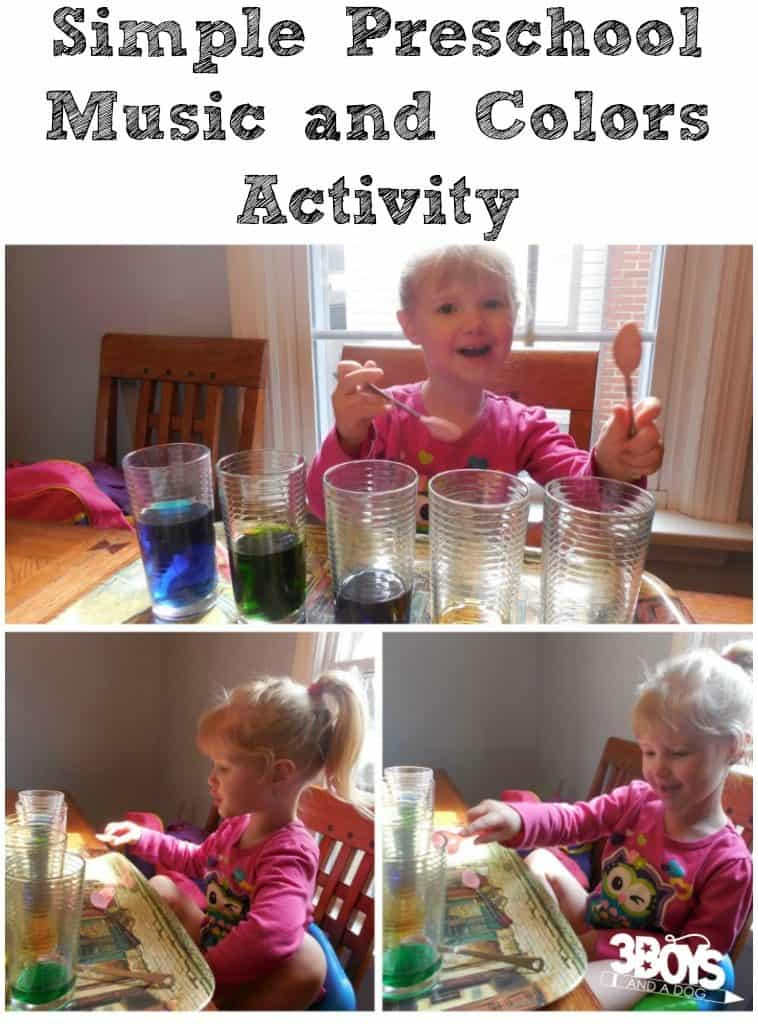 Preschool Music and Colors Activity