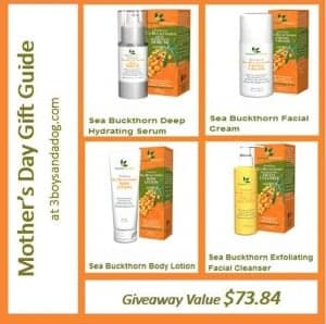 GIVEAWAY:  Sea Buckthorn Facial Kit (value $73.84) #happymothersday