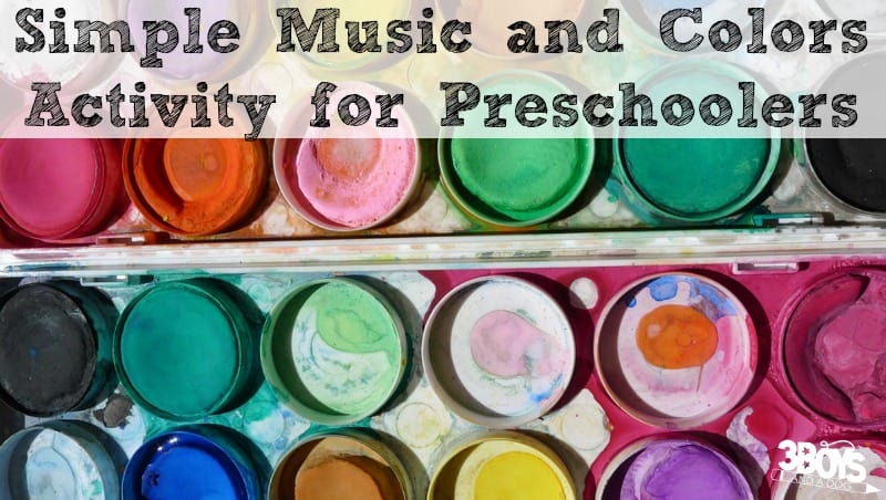 Simple Music and Colors Activity for Preschoolers