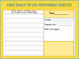 Menu Plan Monday:  Free April Showers Daily Planner Printable!