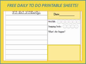 Menu Plan Monday:  Free April Showers Daily Planner Printable!