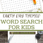 earth day word search printable worksheet