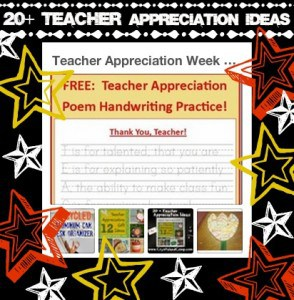 20+ Teacher Appreciation ideas