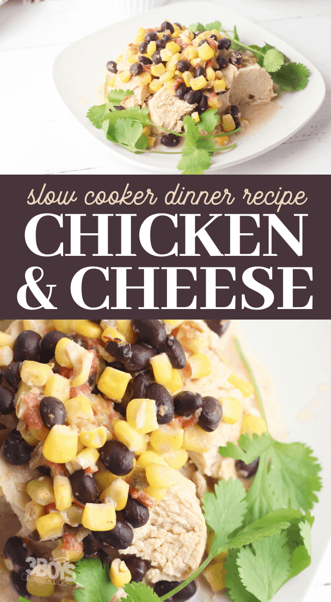 southwest chicken corn beans dinner with melted cheese