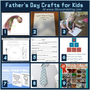9 Father's Day Crafts for Kids!