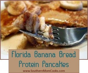 Florida Banana Bread Protein Pancakes