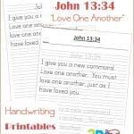 FREE Printable Bible Verses:  John 13:34