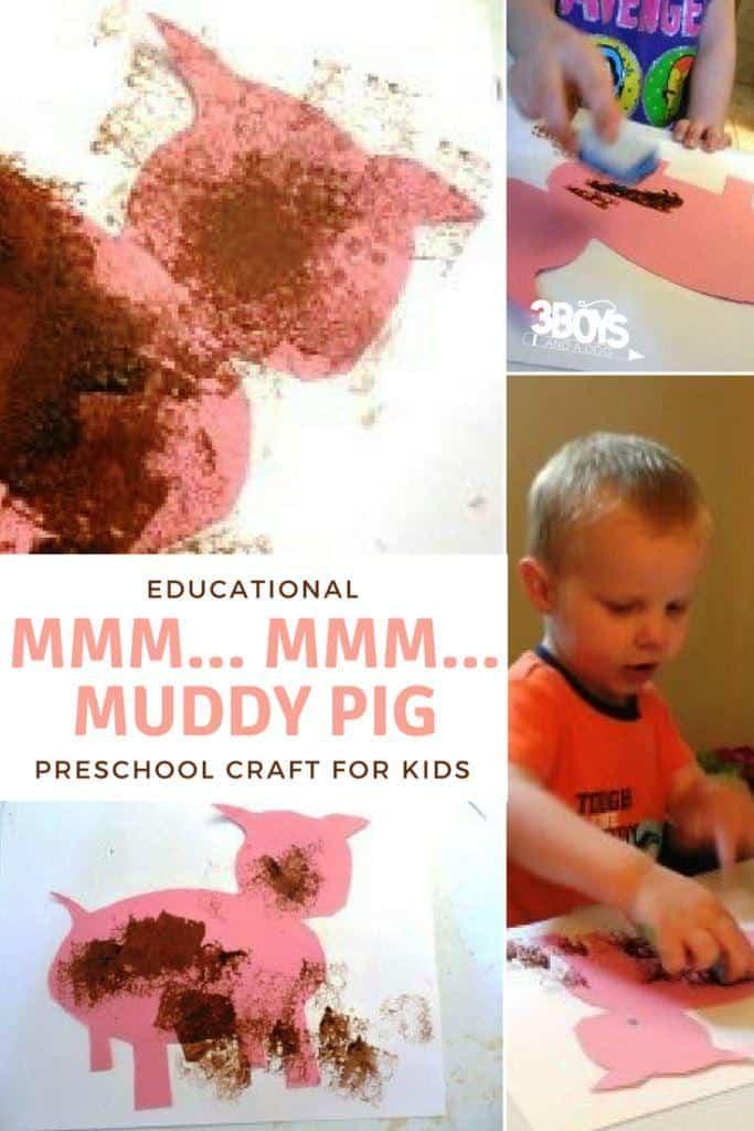 Mmm Mmm Muddy Pig Toddler and Preschooler craft activity