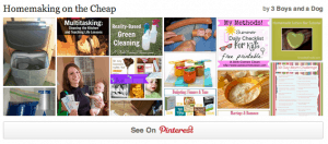Homemaking on the Cheap Ideas and Pinterest Party