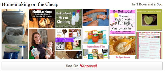 Homemaking on the Cheap Pinterest