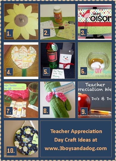 Teacher Appreciation Day Craft Ideas