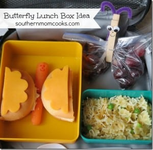 Spring Butterfly lunch idea