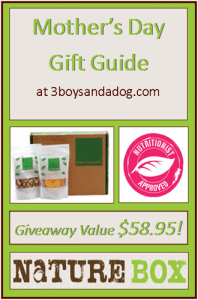 GIVEAWAY: NatureBox for Mom (value $59.85)  #happymothersday
