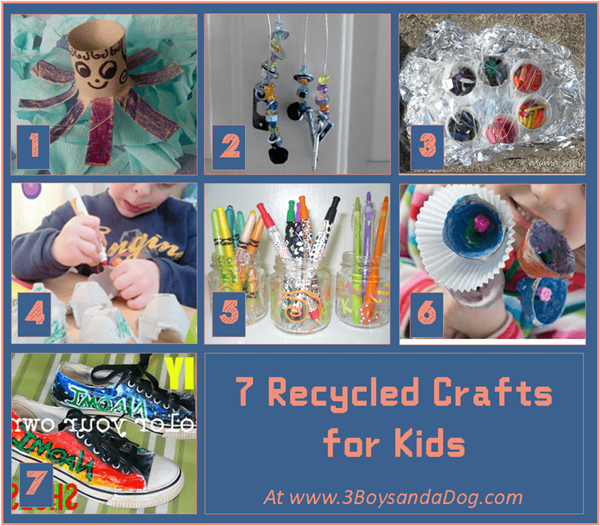 23 fun things for kids to make 3 boys and a dog for Cool things to make with recycled materials