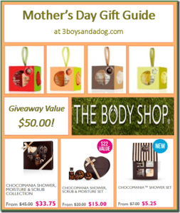 GIVEAWAY:  The Body Shop #happymothersday