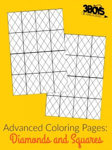 Advanced Coloring Pages: Diamonds and Squares