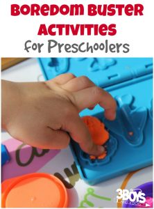 Boredom Buster Preschool Activities