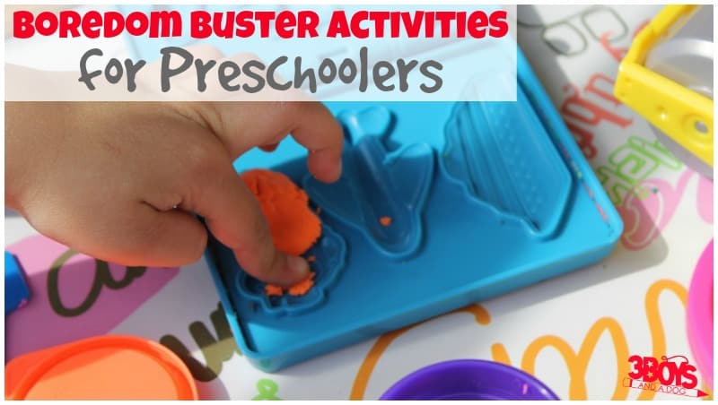 Boredom Busters for Preschoolers
