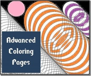 Advanced Coloring Pages: Circles and Ovals
