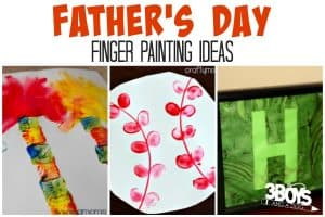 7+ Fathers Day Finger Painting Ideas (last minute gifts)